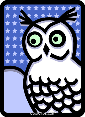 owl Royalty Free Vector Clip Art illustration anim1474