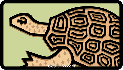 turtle Royalty Free Vector Clip Art illustration anim1476