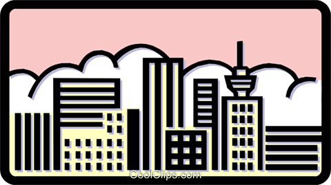 buildings Royalty Free Vector Clip Art illustration arch0376