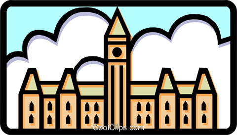 Parliament buildings/Canada Royalty Free Vector Clip Art illustration arch0379
