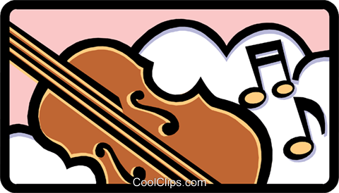 violin Royalty Free Vector Clip Art illustration arts0444