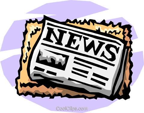newspaper Royalty Free Vector Clip Art illustration busi1175