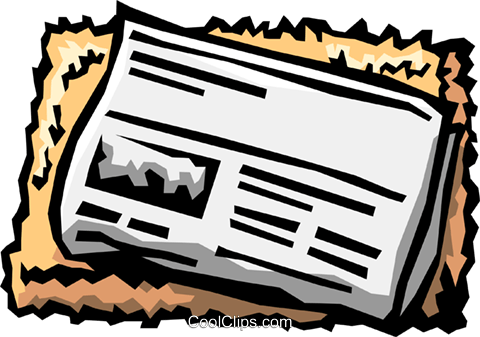 newspaper Royalty Free Vector Clip Art illustration busi1176
