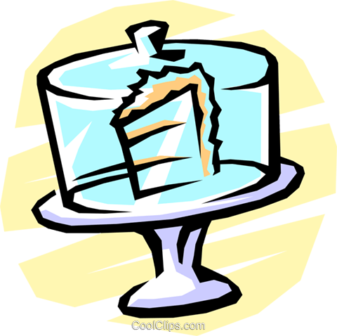 cake wedge in a restaurant display Royalty Free Vector Clip Art illustration food0742