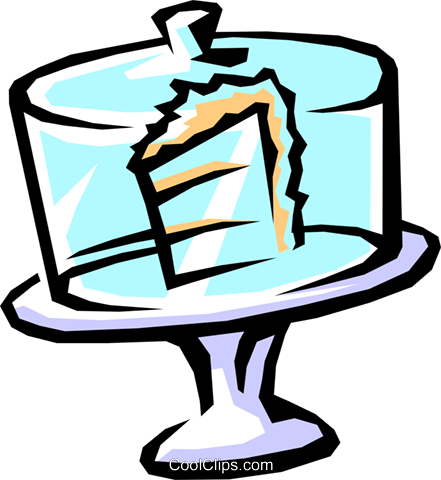 cake on display Royalty Free Vector Clip Art illustration food0743
