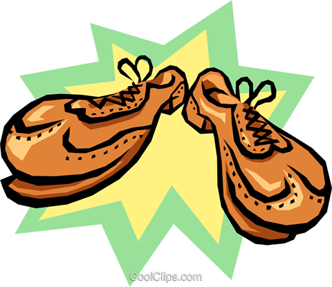 shoes Royalty Free Vector Clip Art illustration hous0980