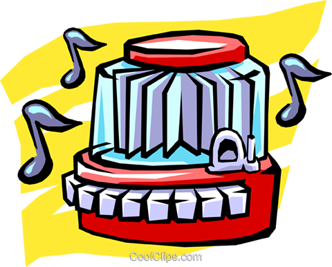 juke  box Royalty Free Vector Clip Art illustration hous0990