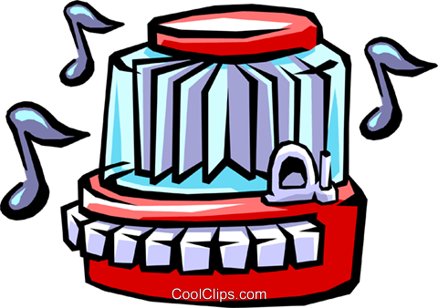 restaurant jukebox Royalty Free Vector Clip Art illustration hous0991