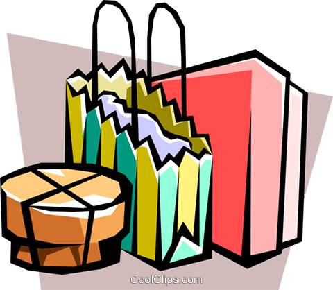 shopping bags Royalty Free Vector Clip Art illustration hous0999