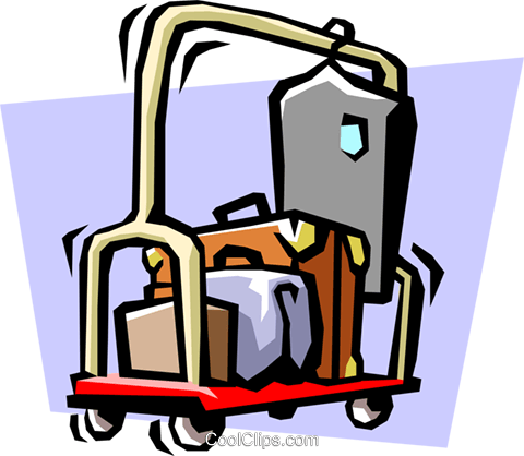 luggage Royalty Free Vector Clip Art illustration hous1006