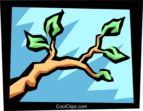 branch Royalty Free Vector Clip Art illustration natu0681