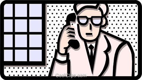man on phone Royalty Free Vector Clip Art illustration peop1816