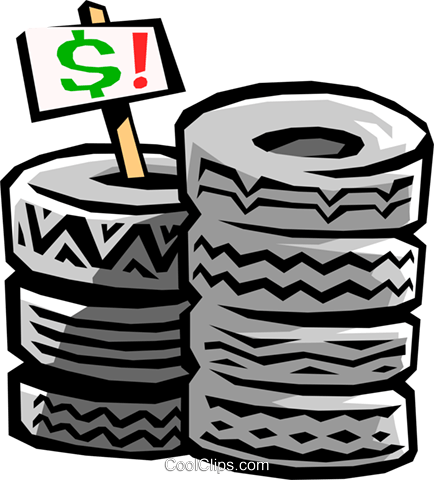 tires Royalty Free Vector Clip Art illustration tran0658