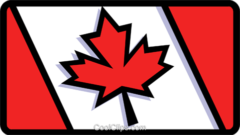 Canadian Flag Royalty Free Vector Clip Art illustration worl0686