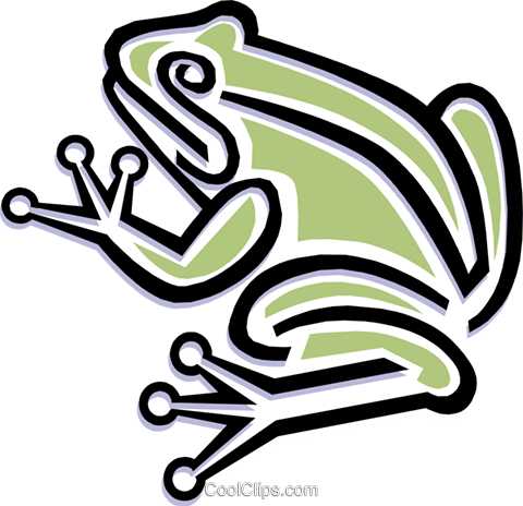 Tree frog Royalty Free Vector Clip Art illustration anim1481