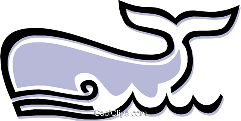 Whale Royalty Free Vector Clip Art illustration anim1482