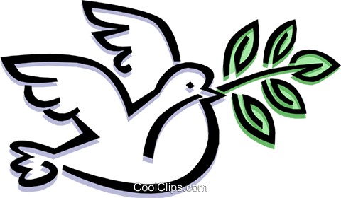 bird peace dove Royalty Free Vector Clip Art illustration anim1484
