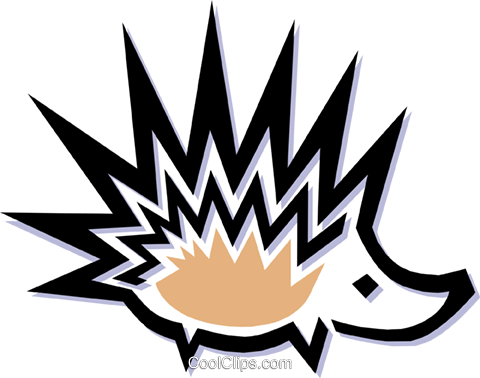 porcupine Royalty Free Vector Clip Art illustration anim1487
