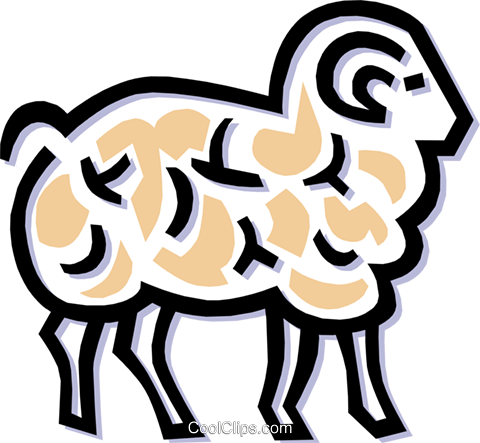 sheep Royalty Free Vector Clip Art illustration anim1489