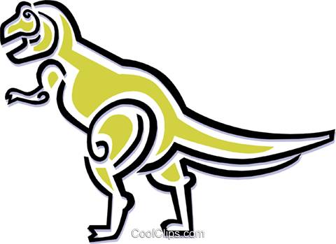 dinosaur Royalty Free Vector Clip Art illustration anim1491