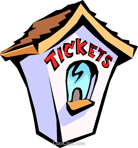 ticket booth Royalty Free Vector Clip Art illustration arch0390