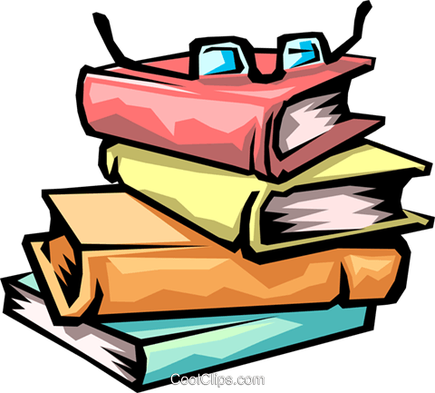 library books Royalty Free Vector Clip Art illustration busi1198