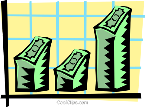 business and finance graph Royalty Free Vector Clip Art illustration busi1200