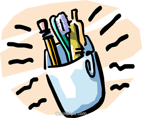 pencils/pens Royalty Free Vector Clip Art illustration busi1206