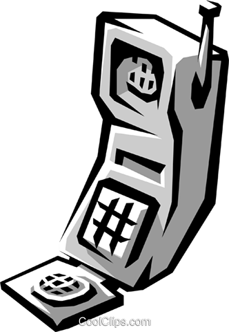 cellular telephone Royalty Free Vector Clip Art illustration busi1208