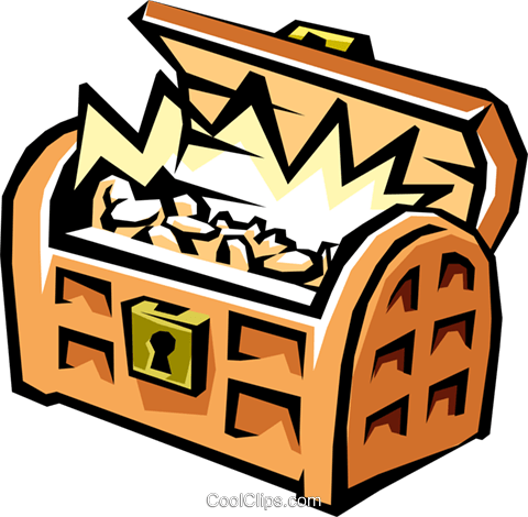 Treasure chest Royalty Free Vector Clip Art illustration busi1210