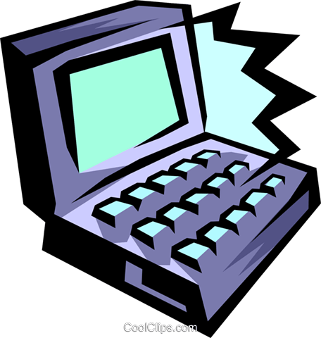 notebook computer Royalty Free Vector Clip Art illustration busi1222