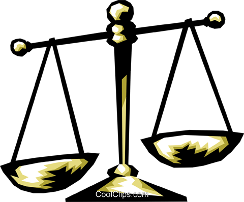 scales of justice Royalty Free Vector Clip Art illustration busi1225