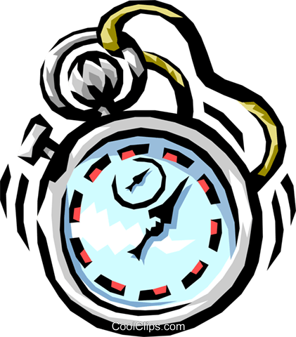 stopwatch Royalty Free Vector Clip Art illustration busi1226