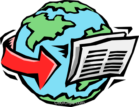 newswire international news Royalty Free Vector Clip Art illustration busi1229