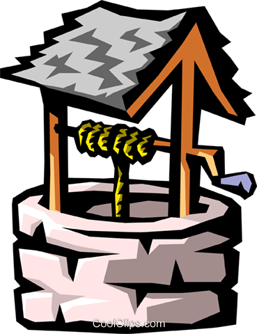 water well Royalty Free Vector Clip Art illustration envi0204
