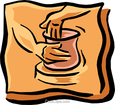 making pottery Royalty Free Vector Clip Art illustration -hand0249 ...