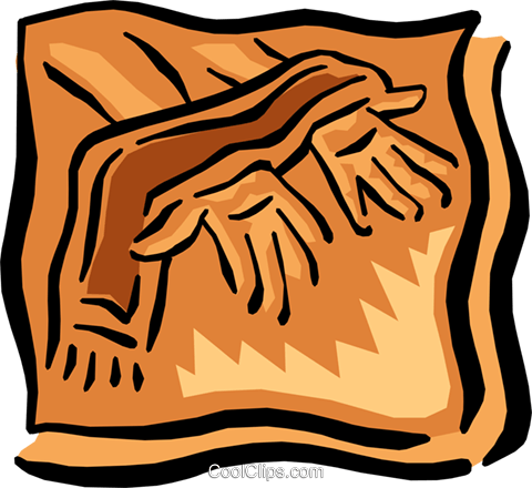 religion Royalty Free Vector Clip Art illustration hand0250