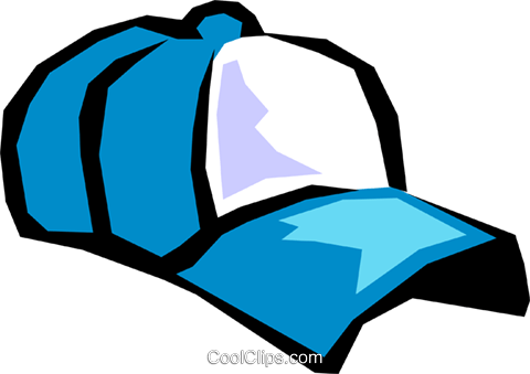 baseball cap Royalty Free Vector Clip Art illustration hous1011