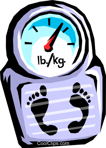 weight scale Royalty Free Vector Clip Art illustration hous1026
