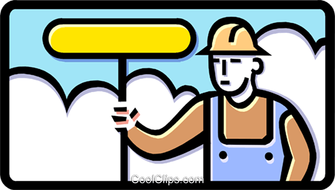 road worker Royalty Free Vector Clip Art illustration indu0748