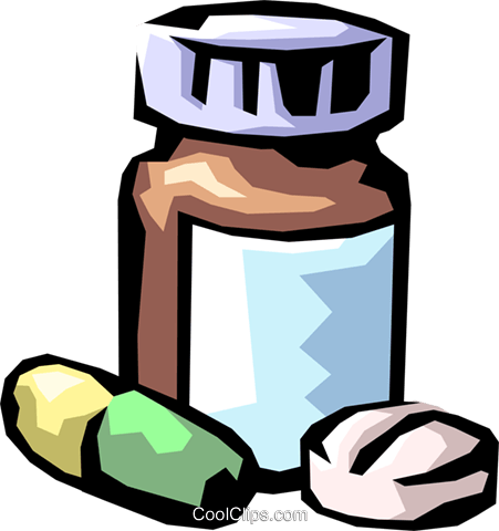 prescription medicine Royalty Free Vector Clip Art illustration medi0316