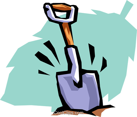 shovel Royalty Free Vector Clip Art illustration natu0703