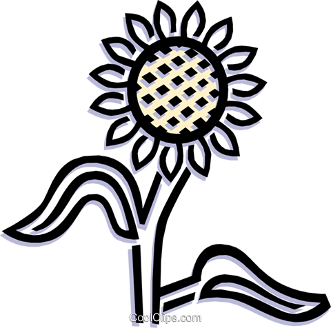 flower Royalty Free Vector Clip Art illustration natu0706