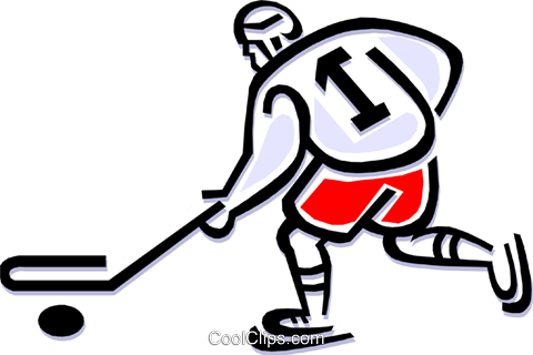 hockey player Royalty Free Vector Clip Art illustration peop1819