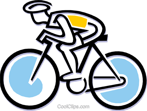 Cyclist in a race Royalty Free Vector Clip Art illustration peop1821
