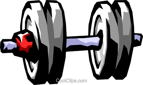 dumbbell Royalty Free Vector Clip Art illustration spor0217