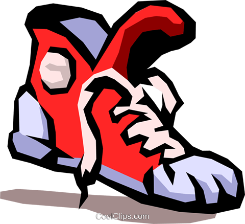 running shoe Royalty Free Vector Clip Art illustration spor0221