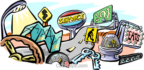 road travel Royalty Free Vector Clip Art illustration tran0685