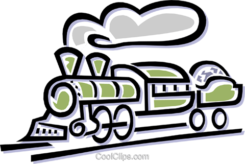 locomotive Royalty Free Vector Clip Art illustration tran0692