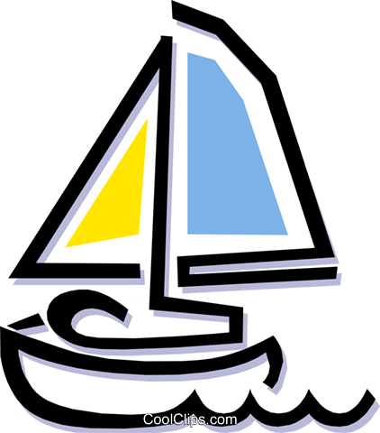 sailboat Royalty Free Vector Clip Art illustration tran0696